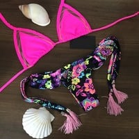 Printed sexy bikini two-piece suit L637492 by Luxedaze Bikini