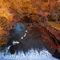 Waterfalls in Autumn Original Fine Art Photography Gift For All Occasions 8x12 Matted to 12x16 Picture