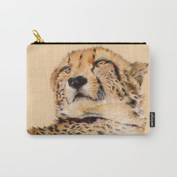 Season of the Cheetah Carry-All Pouch by michael jon