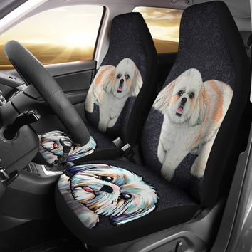 Cute Shih Tzu Dog Print Car Seat Covers- Free Shipping