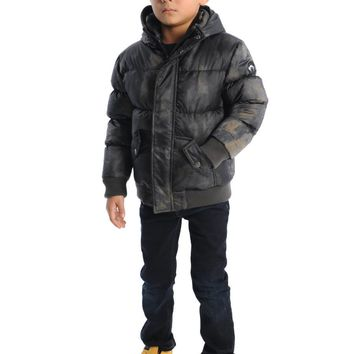 Appaman Boys' Grey Aurora Down Puffy Coat