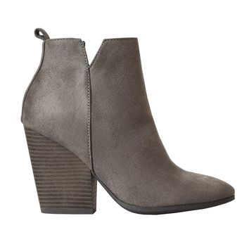 Charcoal Suede Ankle Booties