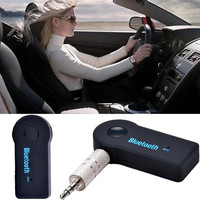 Wireless Bluetooth 3.0 Car Stereo Audio Handsfree Receiver Mic Cable Adapter S0B D_L