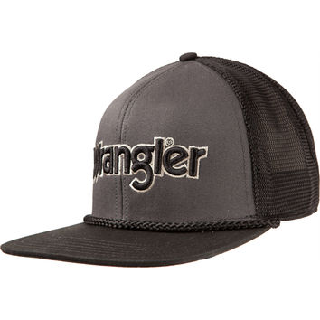 f25d42a7a47 Men s Wrangler Black Retro Trucker Cap from nrsworld.com