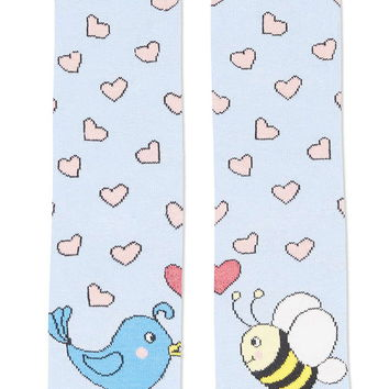 Birds and Bees Ankle Socks