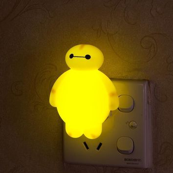 Novelty Night Light Baymax Big Hero 3W luminaria White Green Red Color lava lamp for children Bedroom Decorate luminaria de mesa