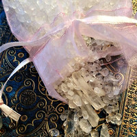Bag of Dead Sea Salt and Clear Quartz Shards ~ Healing, Protection, Cleansing, Spiritual, Magic