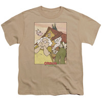 Courage the Cowardly Dog Gothic Courage Sand Youth T-Shirt