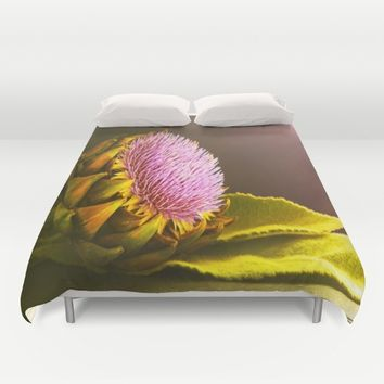 artichokes flower Duvet Cover by Tanja Riedel