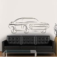 Vinyl Wall Decal Sticker Bedroom Holl Car Boy Race Track Dodge Challenger A118