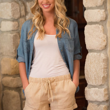 Bella Dahl Perfect Linen Shorts
