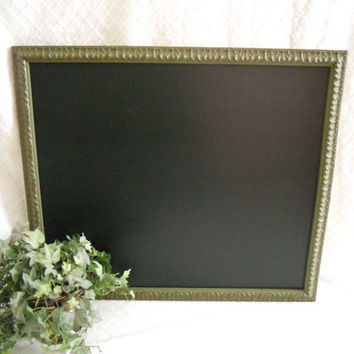 Large Framed Chalkboard. Big Framed chalk board, green chalkboard, kitchen menu board, restaurant, upcylcled chalkboard , picture frame