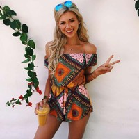 Annie Tribal Romper Playsuit