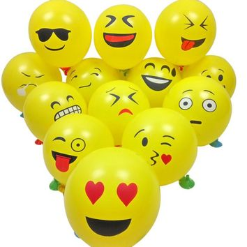 10/20/50/100pcs Cute Emoji Face Balloons For Festival Birthday Party Xmas Decoration Funny Happy Sale ap522-1