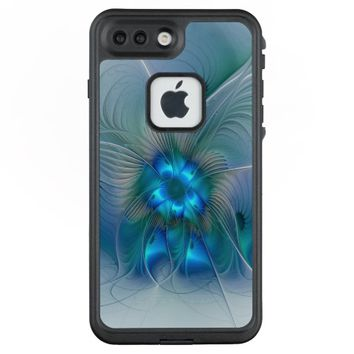 Standing Ovations, Abstract Blue Turquoise Fractal LifeProof® FRĒ® iPhone 7 Plus Case