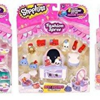 Shopkins Fashion Spree Bundle of 3: Ballet, Best Dressed, Cool & Casual by Moose Toys