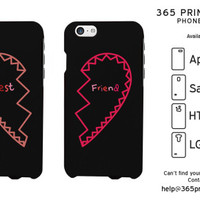 Half Heart Best Friend Matching Phone Cases - 365 Printing Inc
