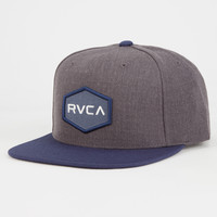 Rvca Commonwealth Mens Snapback Hat Navy Combo One Size For Men 26629521101