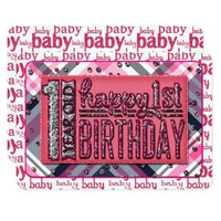 Baby Girl First B-Day JOURNAL CARD