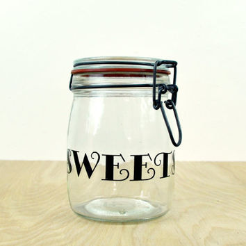 Glass Swing-Top Candy Jar // Sweets