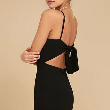 Toast to Life Black Mini Dress