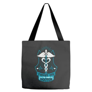 Trust Me I'm The Doctor. Tote Bags
