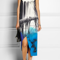 Mary Katrantzou | Sanfran wrap-effect printed satin dress | NET-A-PORTER.COM