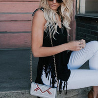 New summer sexy Women Solid Color vest tassels T-shirt -006-27