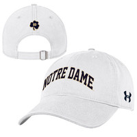 Notre Dame Fighting Irish Under Armour Women's Relaxed Adjustable Hat - White