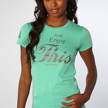 The Just Enjoy Tee in Mint