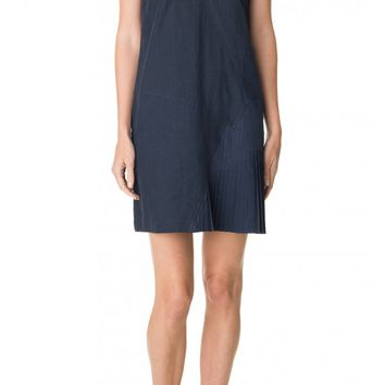 Tibi Annelie Linen Seamed Dress
