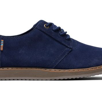 TOMS - Youth Ivan Casuals Navy Suede Sneakers