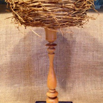 Birdsnest basket & mexican tile bird house