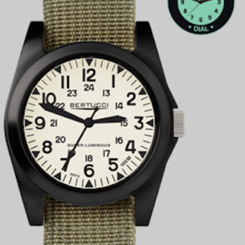 Bertucci 13356 Men's Watch  A-3P Sportsman Vintage Field Darb Band Super Luminous Dial