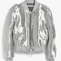 Off-White / Silver Bomber Jacket