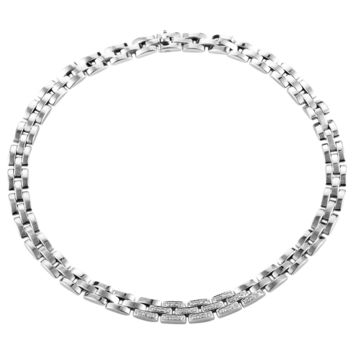 Cartier Maillon Panthere Diamond Gold Necklace