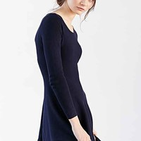 Glamorous Long-Sleeve Sweater Dress- Navy