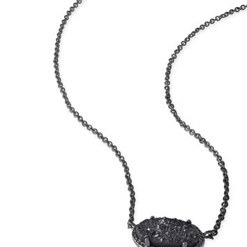 Kendra Scott Elisa Black Drusy Black Adjustable Necklace