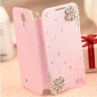Rhinestone Clamshell Mobile Phone Sets Iphone4/4s Iphone5/5s Case (iPhone4/4S, pink)
