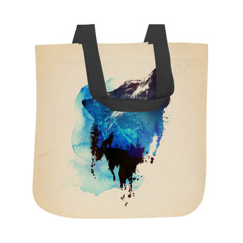 Alone As a Wolf Tote Bag
