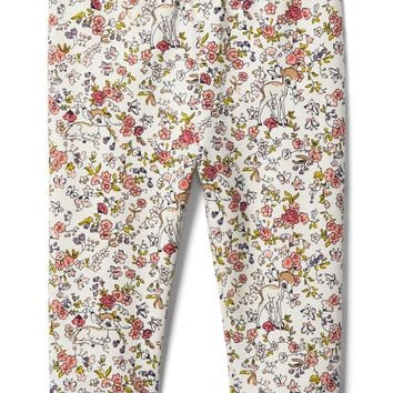 babyGap | Disney Baby Bambi floral cozy fleece leggings|gap