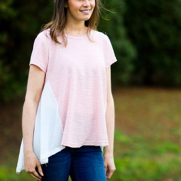 Best of Both Worlds Top in Blush