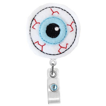 Eye Ball - Optometrist Badge clip-Badge Holder - Cute Badge Reels - Unique  ID Badge Holder - Felt Badge - Opthalmologist gift