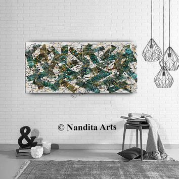 """Jackson Pollock Vintage Style Oil Painting 66"""" Multicolor Abstract Painting on Canvas by Nandita, Office Decor, Modern Art. Wall Art, sale"""