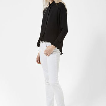 Alex Skinny Crop - White