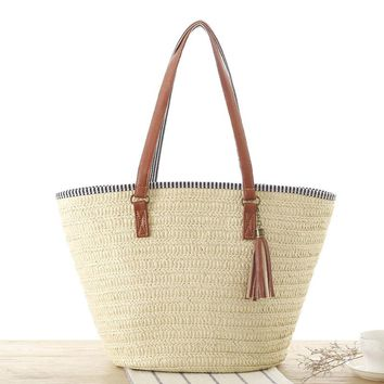 Summer Tasseled Beach Bag