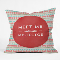 Allyson Johnson Under The Mistletoe Throw Pillow