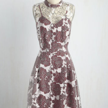 Unfalteringly Feminine Dress in Ruby | Mod Retro Vintage Dresses | ModCloth.com