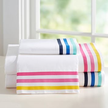 Ribbon Stripe Sheet Set