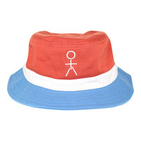 Stickman Bucket Hat - Nantucket Red / White / Carolina Blue